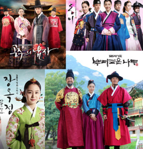 These are dramas from the Joseon Dynasty....totally different time period! :-)